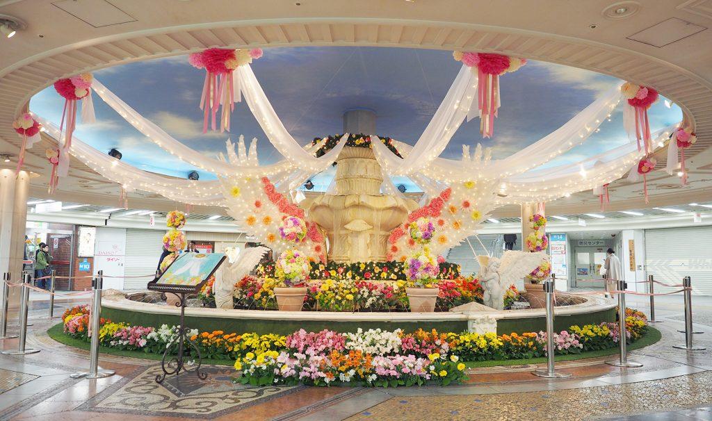 弊社プロデュースのホワイティうめだ スプリング装飾『天使の物語〜Floral Angel〜』開催中!